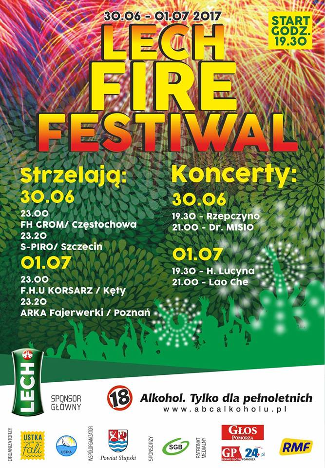 Program Lech Fire Festiwal - plakat